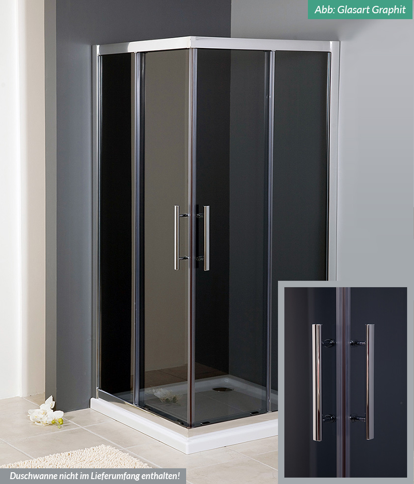 duschkabine serie dk200 esg glas 80x80 90x90 80x100 90x120 cm schiebet r ebay. Black Bedroom Furniture Sets. Home Design Ideas
